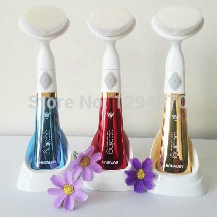 6 ª Geração de Sonic vibração elétrica lavagem de cara máquina cuidados da pele Facial Pore Cleaner Limpeza Massagem Mini Escova Beleza(China (Mainland))