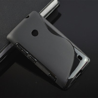 For Nokia Lumia 520 525 High Quality Case,S line Soft Tpu Wave Case Back Cover Skin phone case with tracking number