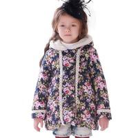 девушка зима вниз куртка зимняя одежда малыша теплый длинный жакет длинная белая утка вниз ветровки Пальто пэчворк шаблон с капюшоном