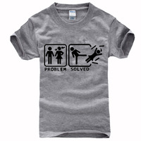 2014 summer funny limit T Shirt cotton solved problem interesting t-shirt man top tee casual man short sleeve plus size