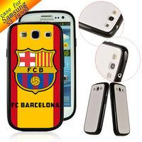 TPU+ PC Customized hard back cover Designer Case Skin for Samsung Galaxy S3 SIII I9300 FC BARCELONA ZC0116 Free ship