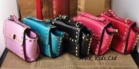 Wholesale New Style 2014 Lady Handbag Rivets Baby Girls Purses Free Shipping MBK-14061002