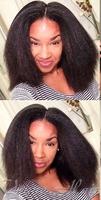 For Black Women Kinky Straight glueless full lace human hair wigs 100% Virgin Hair Remy Hair kinky straight wigs