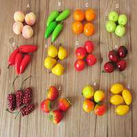100Pcs/Lot  2-3.5CM  Home Decor Wedding Decoration  Diy Material Children Early Education Tools Colorful PE Fruit