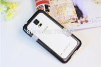 Bumper Multi-color  Frame For Samsung Galaxy S5 i9600 Phone  Zenus Walnutt Multi Colored Shell Cover TPU+PC Plastic 3pcs