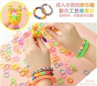 2014Fashion colorful Diy Bracelet Rubber Band,Best gift for kids,diy Loom Bands Refills Magic Crazy,children Twistz Bandz Xll350