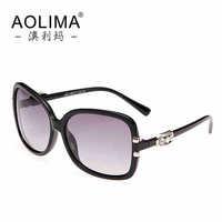 Big box fix face lady sunglasses polarizer driver hipster glasses lens Drive glasses