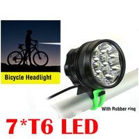 Free DHL,4 SET 7T6 Bike Light 9800LM 7x Cree XML T6 Led Bicycle light with  8400mah battery pack