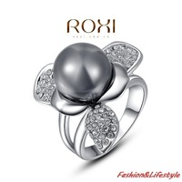 2014/Quality Goods/Wedding rings/Gem rings/CZ diamond/Black Pearl/zircon/tail ring/Micro-inserts/Freeshipping/