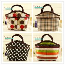 new 2014 insulated lunchbag women handbag canvas neoprene lunch bag thermal bag waterproof picnic bag lunchbox for kids(China (Mainland))