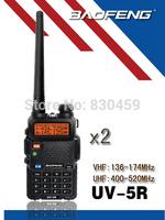2x New 2014 Black BAOFENG UV-5R Walkie Talkie 136-174/ 400-520MHz Two Way Radio with free earpiece