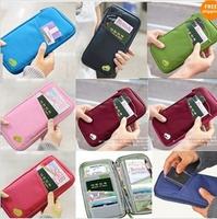 Free shipping 300pcs 7 colors New Travel Passport Credit ID Card Cash Holder Organizer Wallet Purse Case Bag