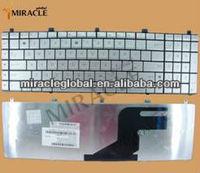 For original laptop keyboard ASUS N55 N75 N55S N57 US layout  Silver free shipping by the HK post