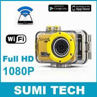 WIFI Full HD1080P 5.0MP Underwater Action Sport CAM DVR Video wifi sportsCam 20 meters underwater WiFi DV Camcorder