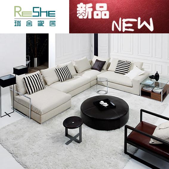 Simple stools leather wood coffee table living room coffee table