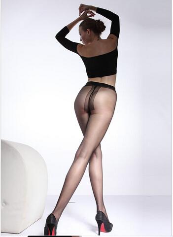 China Famous Brand LangSha Women's T Crotch Super Thin Core-Spun Add Crotch Panthose Black/Nude/Grey(China (Mainland))