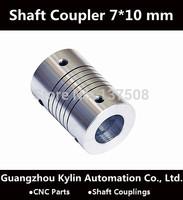 Best Price!Flexible shaft Coupler 7x10 mm flexible shaft for screw shaft cnc parts stepper motor
