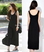 Milk silk full dress fashion stripe full dress vest one-piece dress