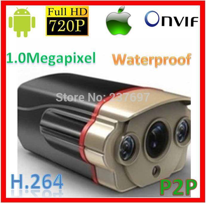 P2P 720P ONVIF 1MP 1.0megapixel Security Baby IP Surveillance Digital Camera Google Outdoor CCTV Network Web Gold Color Camera(China (Mainland))