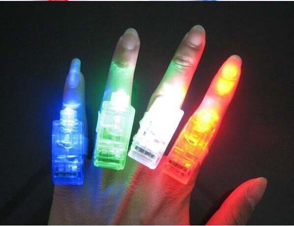 50 PCS LED Finger Ring Beams Party Nightclub Gadget Glow Laser Light Torch(China (Mainland))