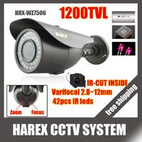 1200TVL IMX138+8520 with IR-CUT filter 42pcs IR LEDS varifocal lens 2.8-12mm outdoor/indoor waterproof Security CCTV Camera
