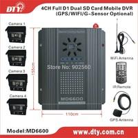 DTY MD6600W dvr 4 ch sd vehicle car dvr h.264 mobile dvr WIFI car alarm