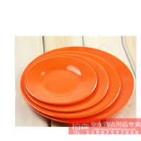 Melamine  tableware plastic plate round dish disc dish melamine dish caidie flat plate white