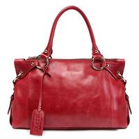Hot 2014 genuine leather handbag vintage fashion women handbag women leather handbag first layer of cowhide shoulder bags 3P0802
