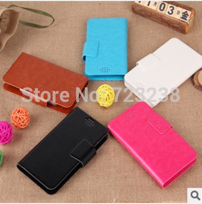 case for THL 4400 case MTK6582 Quad Core Android leather with card holder fashion phone case New Free shipping move slide big(China (Mainland))