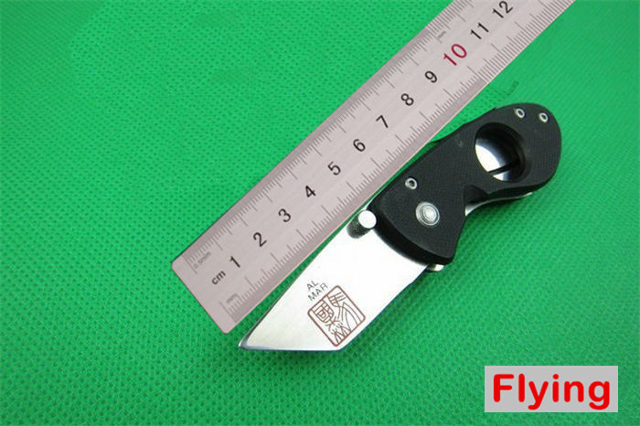 AL MAR Super knife Mini Pocket Knife 5Cr15MOV 56HRC BLADE G10 handle Cigar Utility Knives Best Gift NN958(China (Mainland))