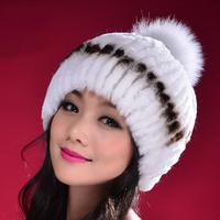 2014 New Arrivel 100% Real Rex Rabbit Fur Hat, Natural Rex Rabbit Fur Cap SU-14037 CPA Free Shipping