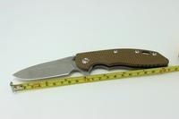 Rick Hinderer XM-18 Titanium Alloy Handle Desert  G10 Handle S35VN Blade Custom Flipper Pocket Folding Knife Freeshipping