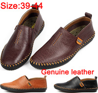 2014 Men fashion british serpentine genuine leather shoes handmade sewing business casual leather shoe free shipping