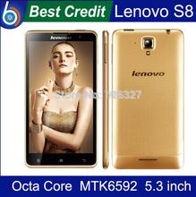 Original Lenovo S8 S898T+ MobilePhone MTK6592 Octa Core Android Smartphone 2GB RAM 16GB ROM 5.3″ HD OGS Screen 13.0MP Camera/Eva