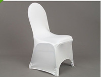 100 pcs free shipping Russia & Belarus white spandex hotel wedding chair cover