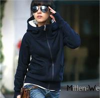 2014 Fashion Women's Winter Warm Hoody Sweatshirt Outwear Girl Ladies Zipper Casual Coat Jackets 4 Colors, Free & Drop shipping
