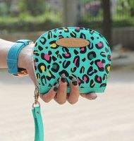 Free Shipping Fashion Blend Color Print Checkbook Change Coin Phone Bag Women Purse Handbag Ladies Wallet
