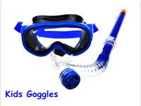 2014 HOT Children goggles kids PVC goggles suit, Swiming glassess, Breathing Tube Panoramic View half dry type equipment
