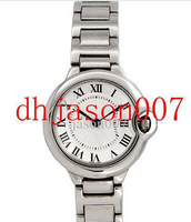 luxury womans fashion quality quartz white dial stainless steel 38mm ladies watches