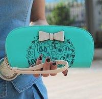 Summer New Butterfly Print Checkbook Change Coin Phone Bag Women Purse Handbag Ladies Wallet