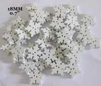 Free shipping 18mm white Christmas Snowflake wooden Buttons 2 holes 120pcs Sewing Accessories W0118