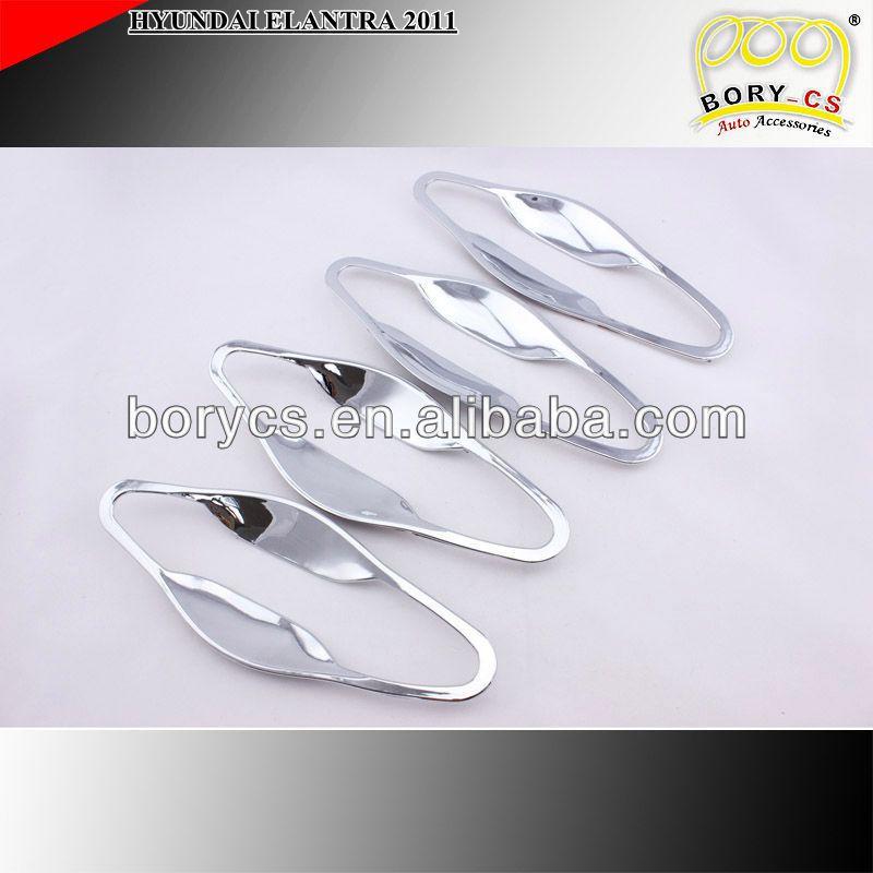 Alta qualidade 2011 HYUNDAI ELANTRA porta bacia tampa ABS Chrome 4 pcs acessórios do carro(China (Mainland))