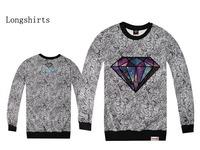 2014 DIAMOND Hoodies, Sweatshirts TOP MEN Hip Hop  Leopard Printing Pure cotton Sweatshirts