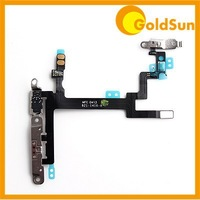 Power Mute Volume on off Button Switch Flex Cable Ribbon with Metal Bracket Connector for iPhone 5 Replacement Original