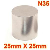 One Large Very Strong Neodymium Disk Magnet 25mm dia x 25mm N35 DIY MRO Craft