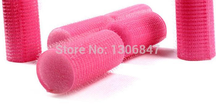 2pcs/lot bangs curls tool Velcro self-adhesive hair curlers pear easy care hair roller hair tube devil roll bangs(B065)(China (Mainland))