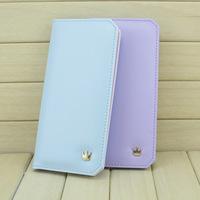 Very Cheap Candy Color Checkbook Change Coin Phone Bag Women Purse Handbag Ladies Wallet