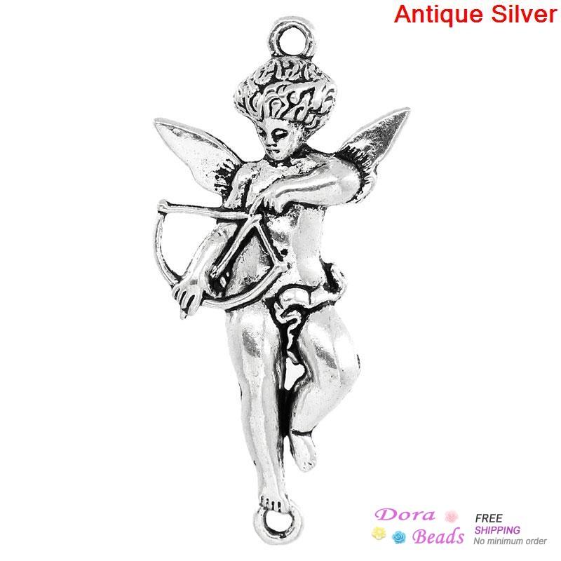 Connectors Findings Cupid Angel Antique Silver 4 5x2 1cm 20PCs K10087