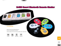 Hot 50pcs Bluetooth Camera Remote Control Self-Timer Shutter for iPhone 5S Galaxy S4 S3 MTK6592 mtk6589t Android IOS phones