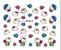 NEW ARRIVAL 3D Cartoon Decals Nail stickers HelloKitty design Nail Art Stick Patch Cartoon Series For Fingernail decoration